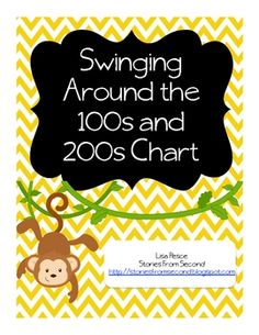 Here's a hundred chart activity that encourages students to think of the numbers ten more, ten less, one more and one less from a selected number. Includes cards for the numbers 1-100 or 1-200.