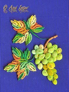 Printre hobby-uri: quilling, kusudama, origami, bijuterii handmade...: Quilling - Grapes (Struguri)
