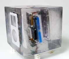 iPod gets exploded, trapped in resin