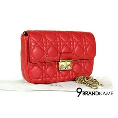 12babcfe11a0 Used Like New Christian Dior Miss Dior Promenade Pouch Red Lambskin GHW  สนใจสอบถามได้นะคะ Tel :0632491456ผึ้ง 0991564992แป้ง Official Line:@ 9brandname ...