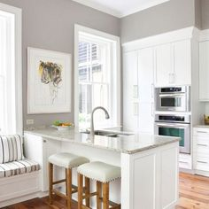 Sherwin Williams SW7023 Requisite Gray What do you think? Would you use this color in your home? #gramercyhomes #omaha #customhomebuilder #dalesiebler #sherwinwilliams #requisitegray #paintcolor #kitchen