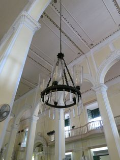 Lovely chandelier in the church at Senado suqare.
