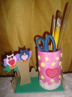 Porta caneta coruja - Love ♥