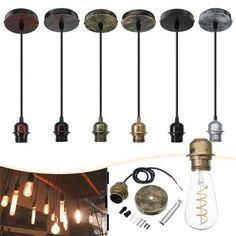 E27 Fabric Flex Ceiling Light Romantic Pendant Lamp Holder Fitting Lighting Decorati