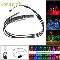 Car-styling 4PCS RGB LED Car Motorcycle Chopper Frame Glow Lights Flexible Neon Strips Kit FE28 Levert Dropship #Affiliate