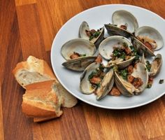 Basque-Style Steamed Clams with Chorizo