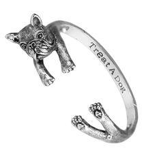 Hug Me French Bulldog Wrap Bracelet from Treat A Dog Shop USA