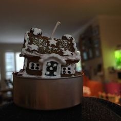 cute gingerbread house candles