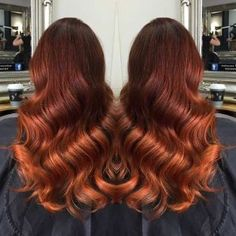Dark Copper Balayage Hair Color Idea