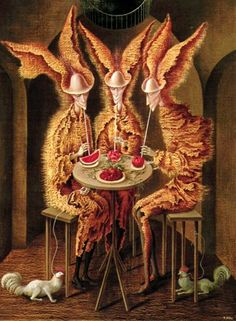 """Vampiros Vegetarianos"" - Remedios Varo, canvas, 1962"
