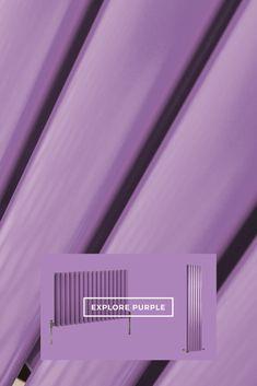 Create a statement feature with your home heating with our stylish purple Milano Aruba Designer Radiators. Radiator Shop, Horizontal Radiators, Designer Radiator, Bright Colors, Contemporary Design, Neon Signs, Create, Purple, Stylish