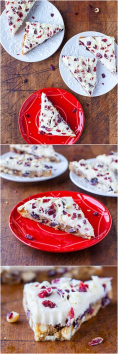 Cranberry Bliss Bars {Starbucks Copycat Recipe} - They taste just like the real thing & you can make them at home, year-round! Spot-on, easy recipe! Yummy Treats, Sweet Treats, Yummy Food, Holiday Baking, Christmas Baking, Just Desserts, Dessert Recipes, Fudge, Cranberry Bliss Bars