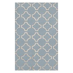 Jill Rosenwald by Surya Zuna ZUN1043 Transitional Hand Tufted 100 New Zealand Wool Silver Blue 2 x 3 Geometric Accent Rug >>> Visit the image link more details.