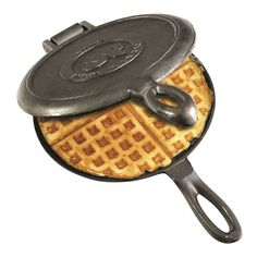 Camping Waffle Maker Cast Iron Pan Stove Top Indoor Outdoor Cooking Campfire  #Rome