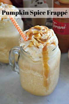 Pumpkin Spice Frappe using the NEW Real Cream Coffee Frapp Mix. Coffee Recipes, Pumpkin Recipes, Fall Recipes, Baking Recipes, Dessert Recipes, Drink Recipes, Yummy Recipes, Pavlova, Cheesecake Oreo