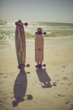 shadow | beach | longboard | skateboard | skate | www.republicofyou.com.au