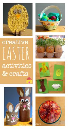 A complete resource of creative Easter activities and Easter crafts for kids