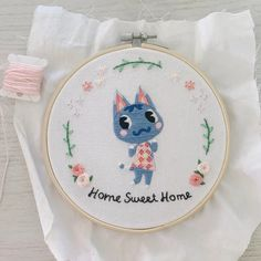 Your place for the latest campground news in Animal Crossing: Pocket Camp! Cute Embroidery, Cross Stitch Embroidery, Embroidery Patterns, Cross Stitch Patterns, Animal Crossing Qr, Animal Crossing Pocket Camp, Ac New Leaf, Cross Stitching, Sewing Projects