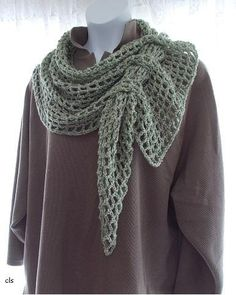 (4) Name: 'Crocheting : Filet Mesh Scarf #1600