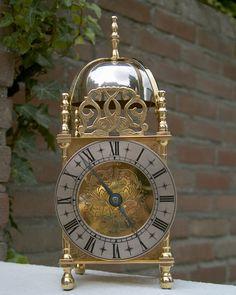 English striking lantern clock with a nice carriage clock movement