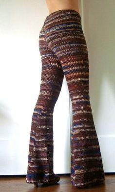crochet bell bottom pants