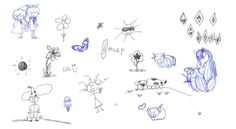 The Type 1′s Body Language:  Walking: Skip in their step, buoyant movement, brisk    Sitting: Fidgety, tapping feet or bouncing knees—may get distracted in imagination    Voice: Higher pitch, rises and falls, youthful, animated voice, talks with hands.    Doodling: Animated and playful, flowers, hearts, characters, stars, spirals, sparks         Type 1 doodles look like fun!    Personal Space: Like things out, love decorating for holidays, higher messy movement
