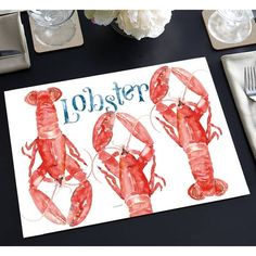Shop Paper Placemats Set of 24 - Lobster - Overstock - 30397151 Outdoor Entertaining, Memorable Gifts, Table Linens, Pet Adoption, Mobile App, Home Goods, Buffet, How To Memorize Things, Recycling