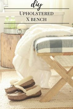DIY / Upholstered Bench / X Bench / Upholstered X Bench / X Bench Coffee Table / Furniture