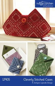 Cute clutch and cell phone bag using the decorative stitches on your sewing machine