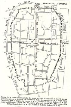 Location of the ancient roman fort in Barcelona / Spain . Antoni Gaudi, Ancient Romans, Barcelona Spain, The Good Place, How To Plan, Rome, Amazing Places, Urban, Nature
