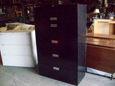 Lateral metal file cabinet 5 drawers 19332