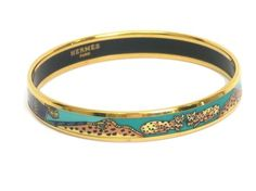 HERMES Enamel Bangle Cloisonne/Palladium Green/Gold 20cm. Get the lowest price on HERMES Enamel Bangle Cloisonne/Palladium Green/Gold 20cm and other fabulous designer clothing and accessories! Shop Tradesy now