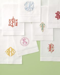 How do you structure a joint monogram? f the bride is taking the groom's last name, the monogram for stationery consists of her first initial, his last initial, then his first initial, placed in a line from left to right, says contributing editor Claudia Hanlin, founder of the Wedding Library in New York City. The middle letter is larger than those on the sides.