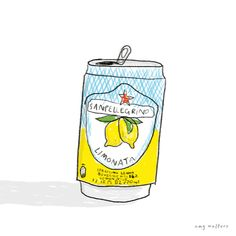 Limonata by Amy Walters Washi, Tapas, Painting Quotes, Chibi, Food Drawing, Oui Oui, Pattern Illustration, San Pellegrino, Food Illustrations