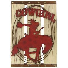 Metal Cowgirl on Wood Plaque   Shop Hobby Lobby