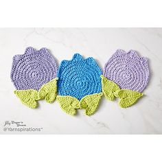 Ravelry: Too Cute Tulip Crochet Potholder pattern by Lily / Sugar'n Cream