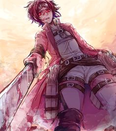 Give me one good reason why I shouldn't kill you. I could puncture your heart in a second without hesitation. *holds sword above your chest, glaring* ((OPEN RP)) Hanji Attack On Titan, Levi X Eren, Levi Ackerman, Mikasa, Tokyo Ghoul, Yuri, Aot Characters, Eremika, Levihan