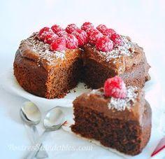 Postres Saludables | Pastel de chocolate sin gluten y sin az�car refinada | http://www.postressaludables.com