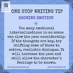 Description help: One Stop For Writers Emotion Tip to Write FRESH