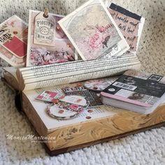 Scrappiness: små kort - prima notecards og chipboard