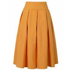 Bow mustard skirt