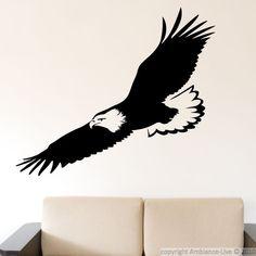 stickers muraux avec le vol d'aigle / ambiance-live.com