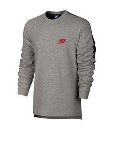 Nike Sudadera con Cierre M Nsw Av15 Top Ls Knit [Gris / Negro]