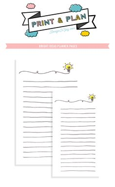 FREE printable Print n' Plan: Bright Ideas Notepaper   DESIGN IS YAY
