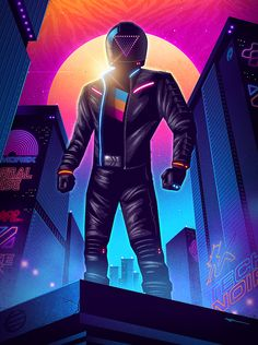Today we are featuring professional digital artist James White, with his amazing character illustration artwork. Arte Cyberpunk, Cyberpunk 2077, New Retro Wave, Retro Waves, Vaporwave, Character Illustration, Digital Illustration, James White, Retro Futurism