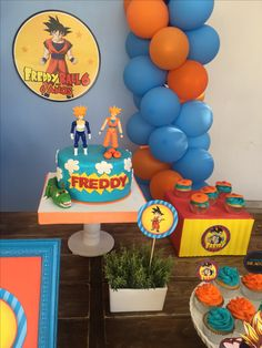 Dragon Ball Z, Birthday Cake, Baby Shower, Desserts, Ideas, Father And Son, Dragons, Fiestas, King