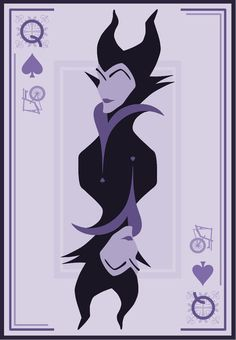 Maleficent as the Queen of Spades | Disney Villianesses Have Great Poker Faces