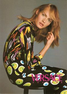 ☆ Amber Valletta | Photography by Richard Avedon | For Versace Campaign | Spring 1996