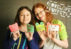 Envelope Hand Puppets for Kids