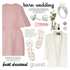 """""""Best Dressed Guest: Barn Weddings"""" by blossom-jewels ❤ liked on Polyvore featuring Valentino, Jolie Moi, Oscar de la Renta, Terre Mère, contestentry, bestdressedguest, barnwedding and Blossomjewels"""